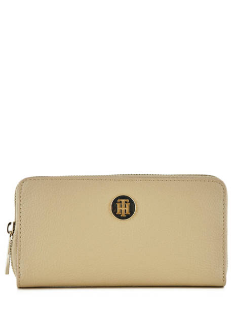 Portefeuille Tommy hilfiger Beige th core AW06500