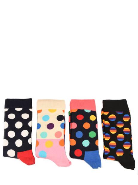 Coffret Cadeau 4 Paires De Chaussettes Pour Lui Happy socks Noir pack XBDO09 vue secondaire 2