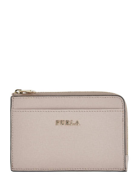 Leather Coin Purse Babylon Furla Beige babylone BAB-PR75