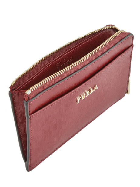 Leather Coin Purse Babylon Furla Red babylone BAB-PR75 other view 1
