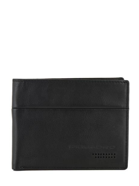 Leather Wallet Urban Piquadro Black urban PU1241UB