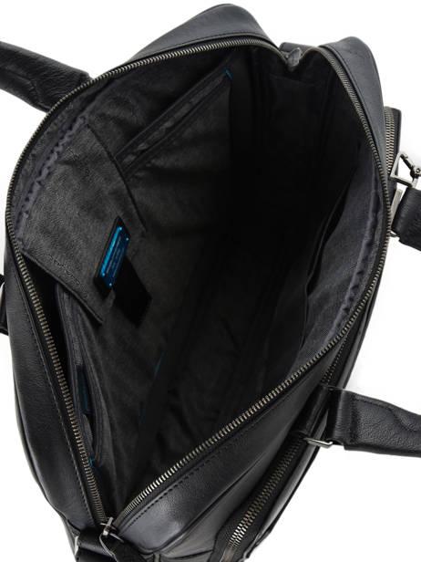 Porte-documents 1 Compartiment + Pc15'' Piquadro Noir black square CA4027B3 vue secondaire 4