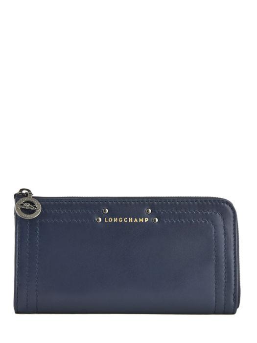 Longchamp Cavalcade Portefeuilles Bleu