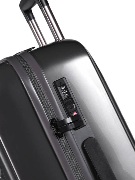 Hardside Luggage L Quadra Travel Gray quadra 18802-L other view 1