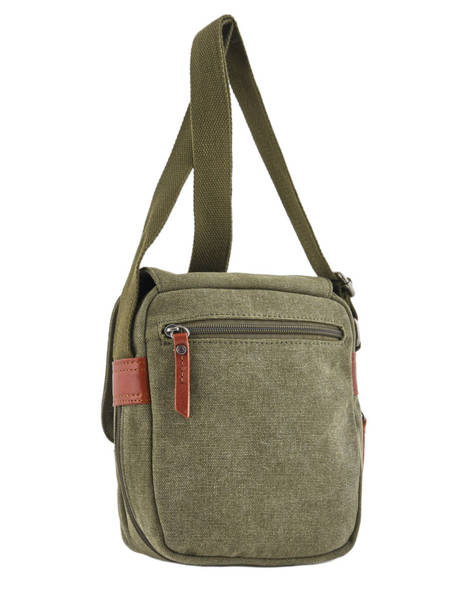 Crossbody Bag Etrier Green canvas ECAN03 other view 3