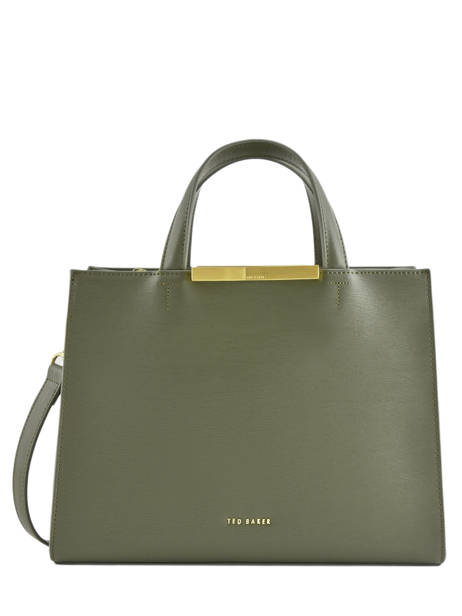 Sac Porté Main Faceted Body Cuir Ted baker Vert faceted body JAANET