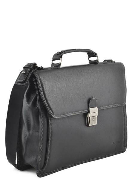 Briefcase 1 Compartment Etrier Black flandres EFLA01 other view 2