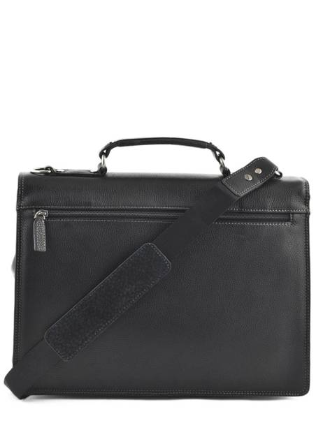 Briefcase 1 Compartment Etrier Black flandres EFLA01 other view 3