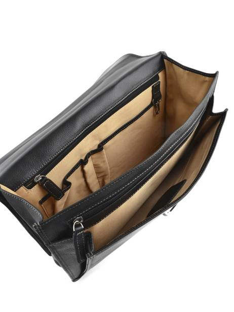 Briefcase 1 Compartment Etrier Black flandres EFLA01 other view 5