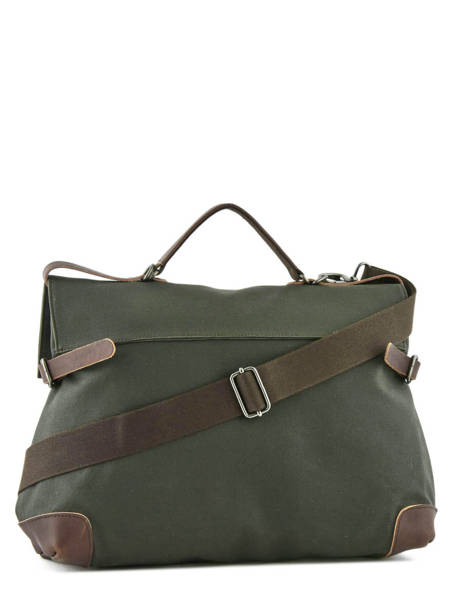 Messenger Bag Equipier Les ateliers foures Green equipier F559 other view 3