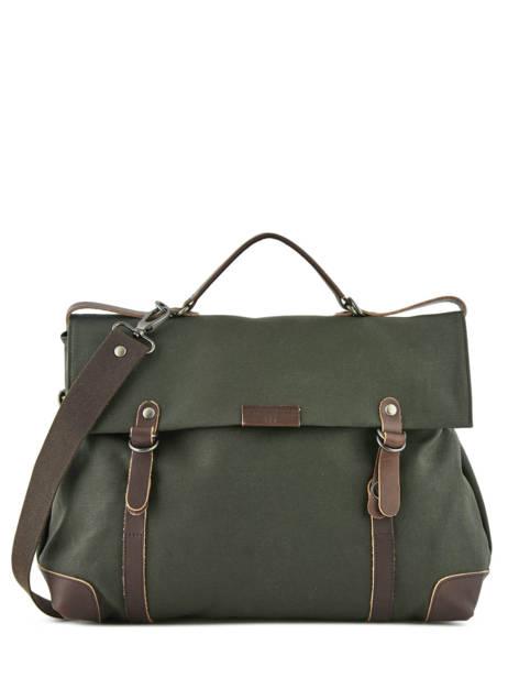 Messenger Bag Equipier Les ateliers foures Green equipier F559