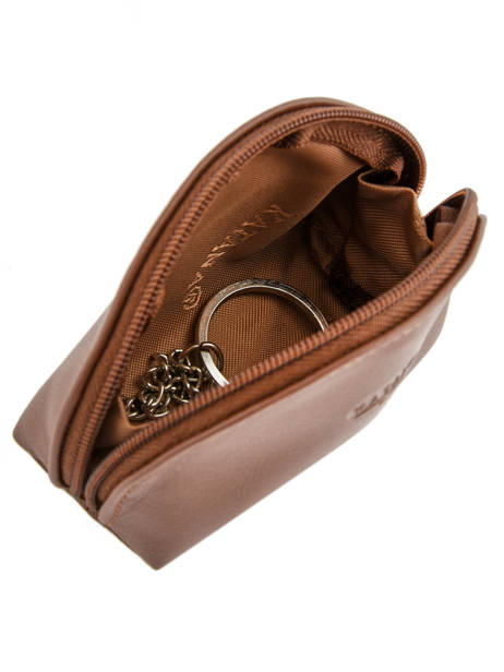 Purse Leather Katana Brown daisy 553007 other view 1