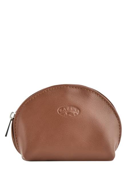 Purse Leather Katana Brown daisy 553007