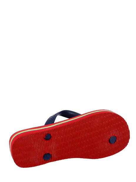 Tongs Havaianas Rouge sandales / nu-pieds 4110850B vue secondaire 2