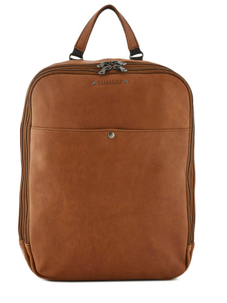 Backpack 2 Compartments Foures Brown 9448