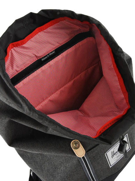 Backpack 1 Compartment Herschel Black offset 10066-O other view 4