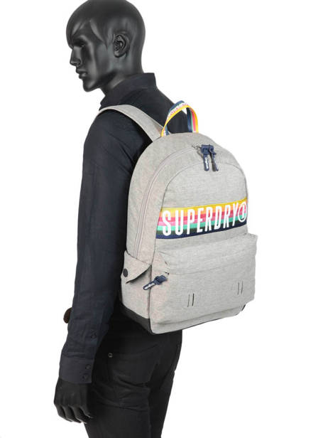Backpack 1 Compartment Superdry Gray backpack men G91013JR other view 2