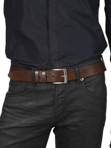 Ceinture Homme Ajustable Extra Petit prix cuir Marron extra 224-40 vue secondaire 2