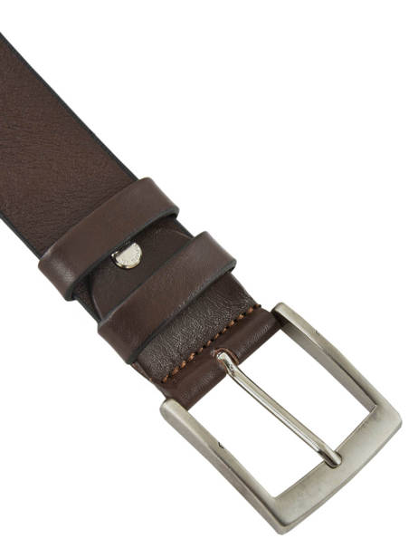 Men's Belt Extra Petit prix cuir Brown extra 224-40 other view 1