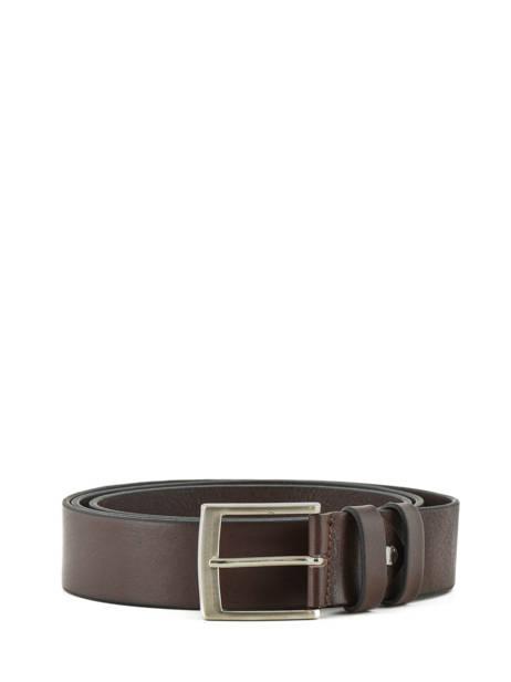 Men's Belt Extra Petit prix cuir Brown extra 224-40