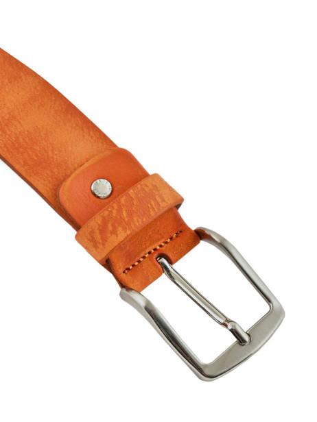 Men's Belt Petit prix cuir Orange jean 703-40 other view 1