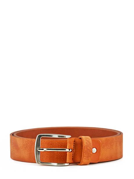 Men's Belt Petit prix cuir Orange jean 703-40