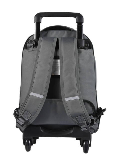 Wheeled Backpack For Kids 2 Compartments Cameleon Gray basic BAS-SR43 other view 4