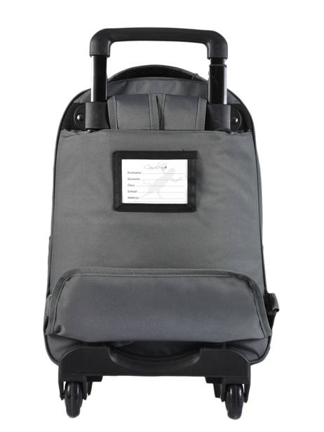 Wheeled Backpack For Kids 2 Compartments Cameleon Gray basic BAS-SR43 other view 5