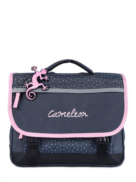 Cartable Enfant 2 Compartiments Cameleon Bleu basic BAS-CA35