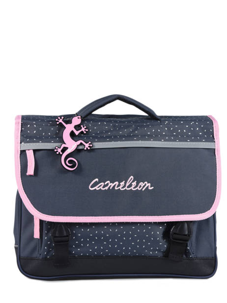 Cartable Enfant 2 Compartiments Cameleon Bleu basic BAS-CA38