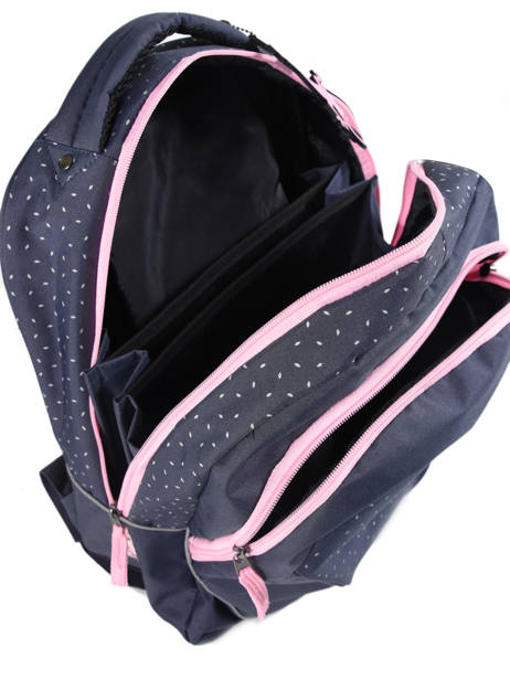 Backpack For Kids 2 Compartments Cameleon Blue basic BAS-SD43 other view 4
