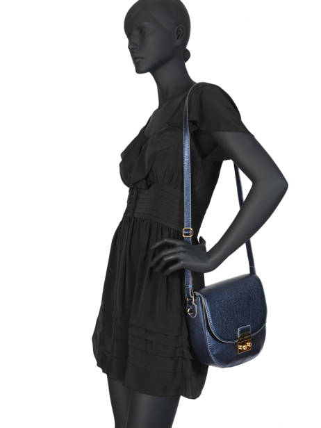 Leather Shoulder Bag Kimberley Mac douglas Blue romy KIMROM-M other view 3