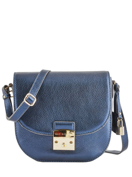Leather Shoulder Bag Kimberley Mac douglas Blue romy KIMROM-M