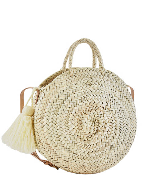 Large Satchel Paille Braided By Hand Miniprix Brown paille Y33155