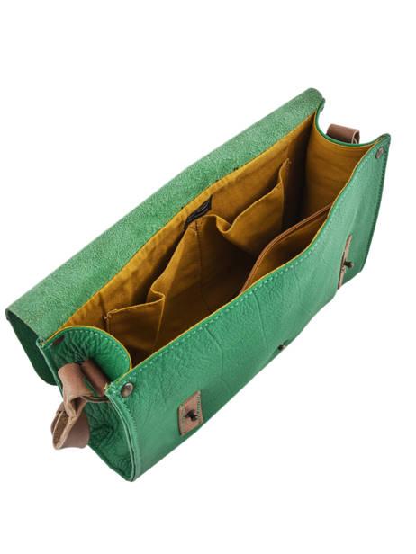 Shoulder Bag Vintage Leather Paul marius Green vintage INDISPEN other view 4