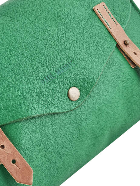 Shoulder Bag Vintage Leather Paul marius Green vintage INDISPEN other view 1