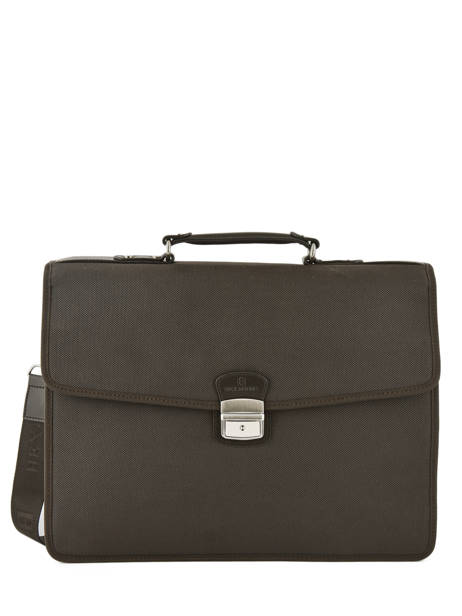 Briefcase 2 Compartments Hexagona Brown worker D74303