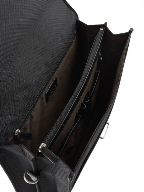 Briefcase 2 Compartments Hexagona Black worker D74303 other view 4
