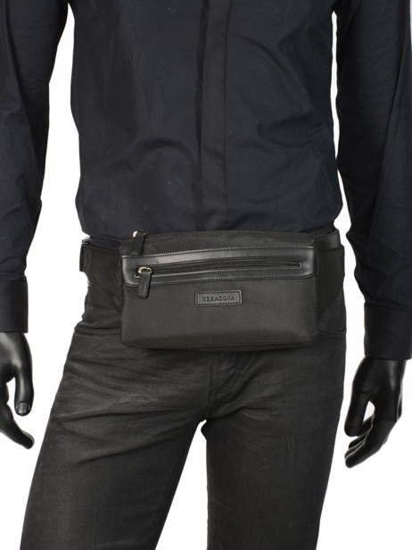 Fanny Pack Hexagona Black worker D72281 other view 2