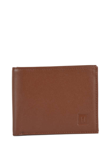 Portefeuille Cuir Hexagona Marron soft 221049