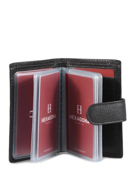 Porte-cartes Cuir Hexagona Marron confort 467254 vue secondaire 1