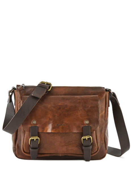 Crossbody Bag Chiarugi Brown street 52002