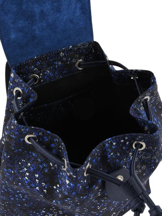Longchamp Le pliage fleurs Sac à dos Bleu