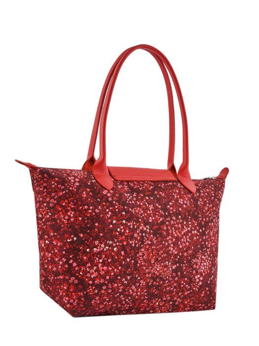 Longchamp Le pliage fleurs Besaces Rouge