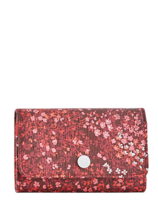 Longchamp Le pliage fleurs Coin purse Red