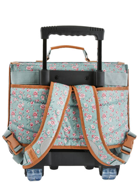 Wheeled Schoolbag 2 Compartments Tann's Blue fantaisie fille 42268 other view 4