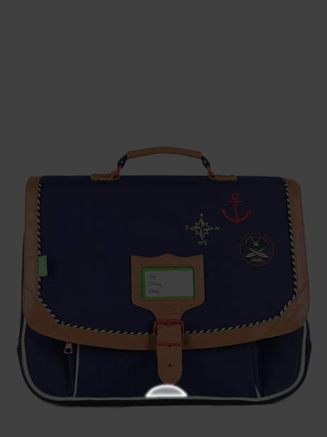 Satchel 2 Compartments Tann's Blue fantaisie garcon 38212 other view 5