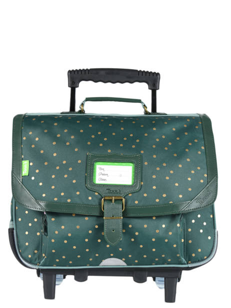Wheeled Schoolbag 2 Compartments Tann's Black fantaisie fille 42277