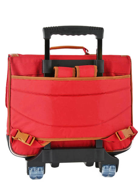 Wheeled Schoolbag With Matching Pencil Case Tann's Red les unis 42117 other view 4