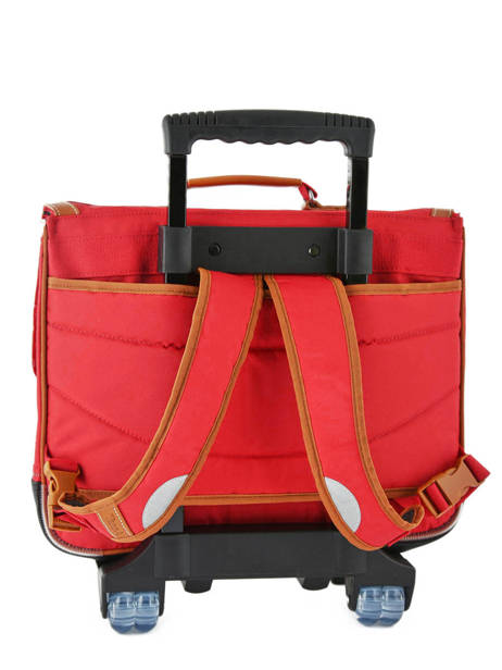 Wheeled Schoolbag With Matching Pencil Case Tann's Red les unis 42117 other view 3